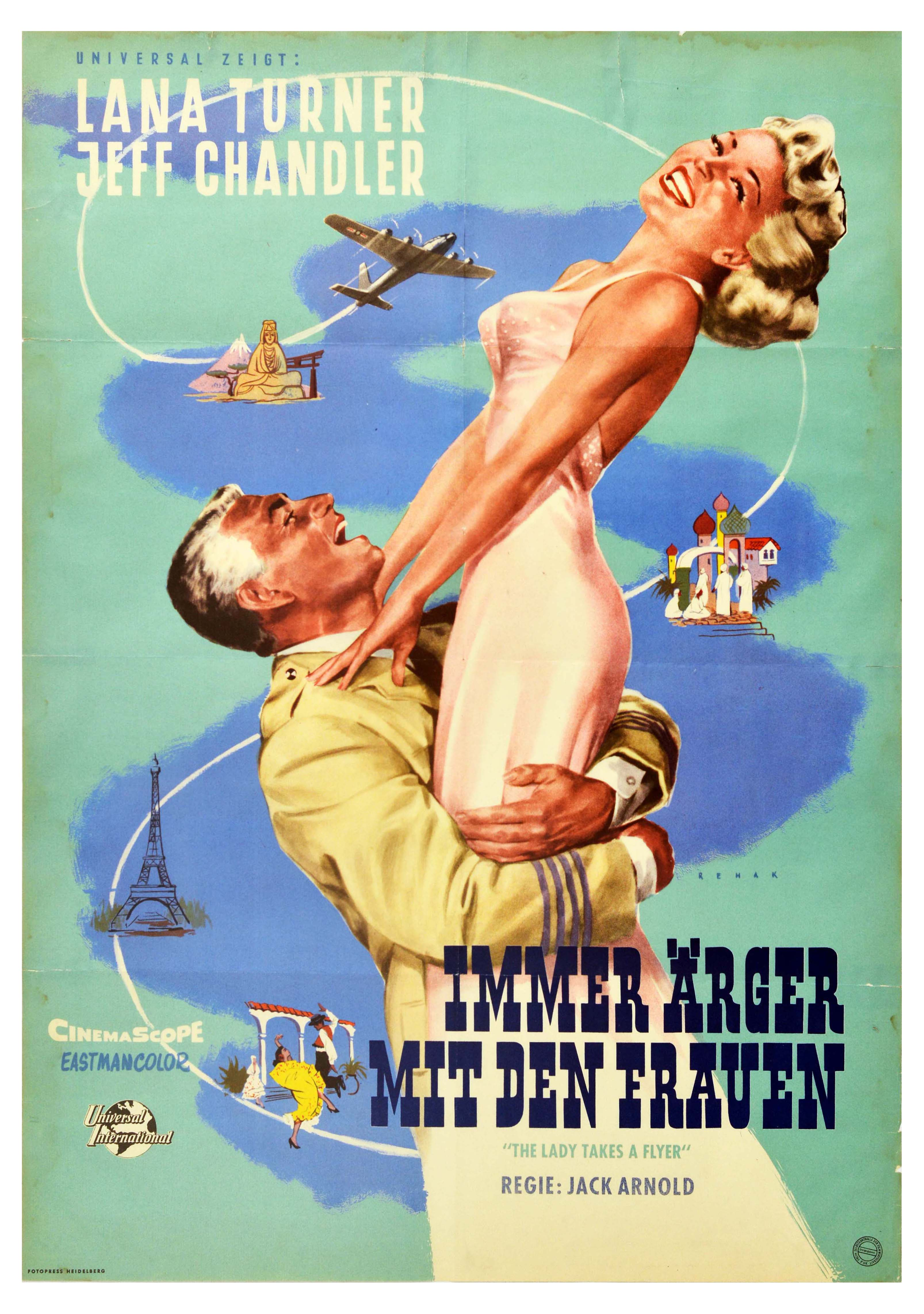 Movie Poster The Lady Takes a Flyer Lana Turner Paris