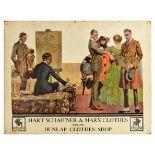 Advertising Poster Hart Schaffner Marx Clothes Art Deco Fashion Painter