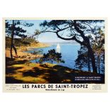 Travel Poster Saint Tropez Sante Maxime Cote dAzur French Riviera