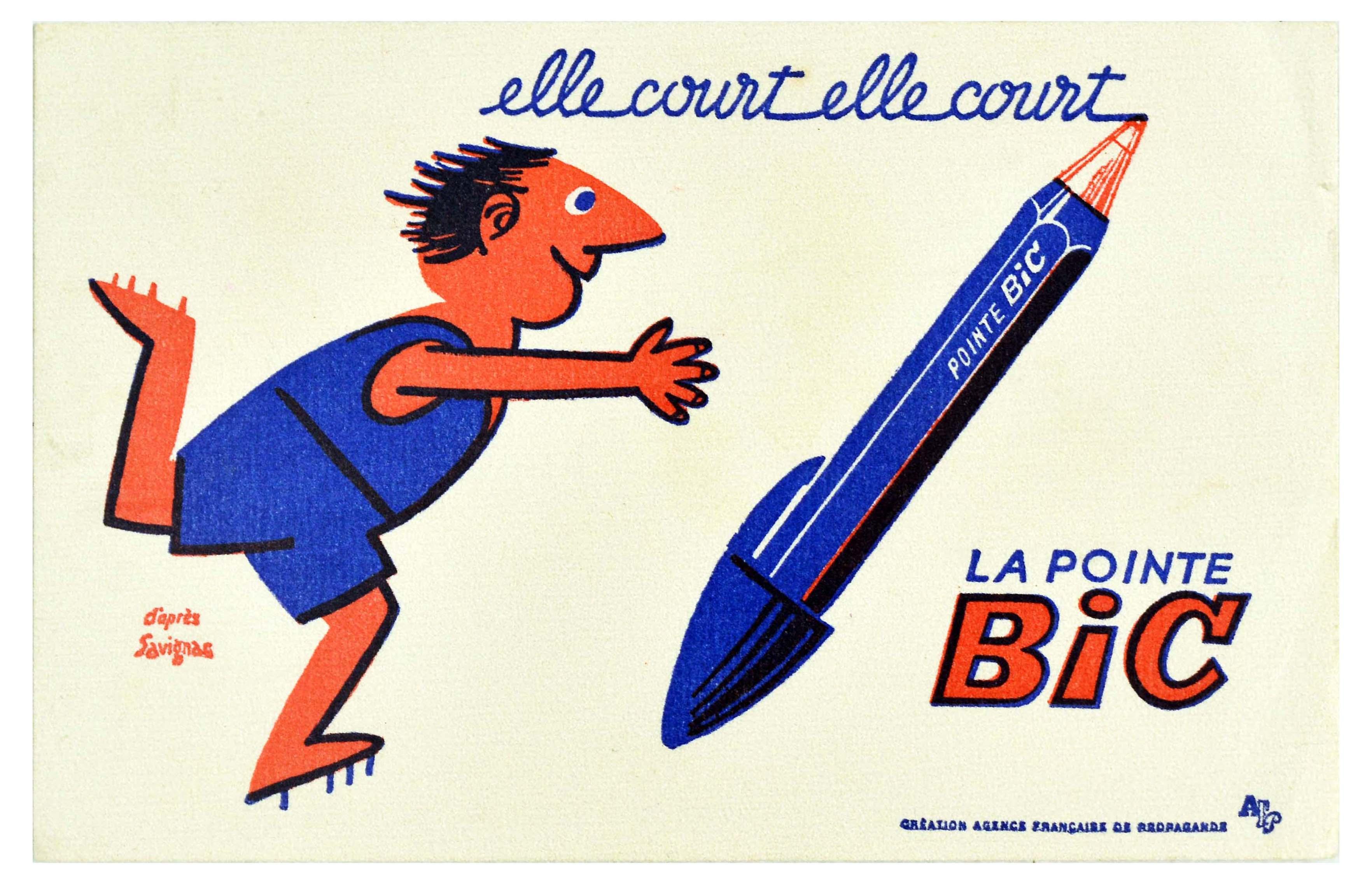 Advertising Poster BIC Pen Runner Savignac