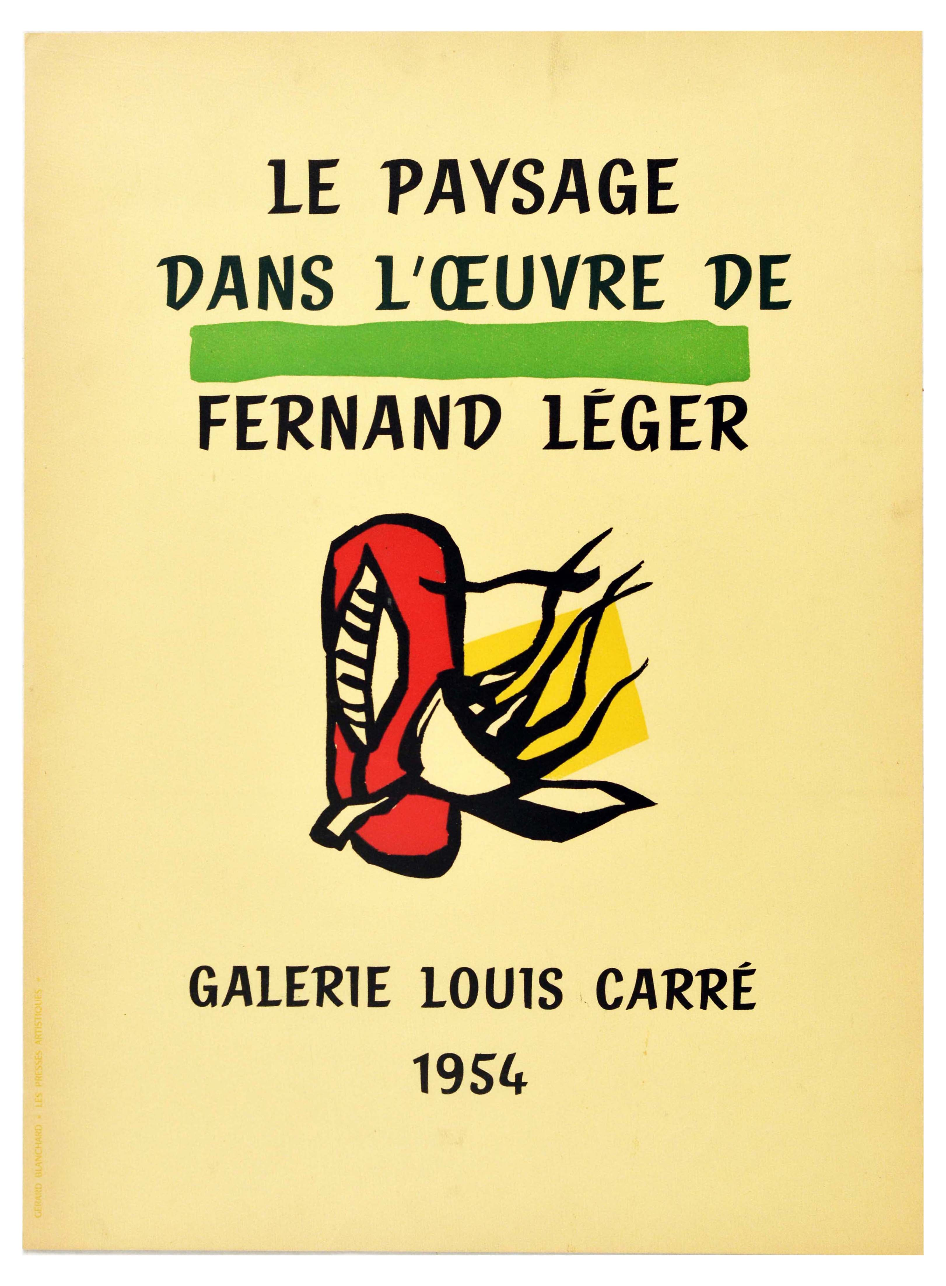 Advertising Poster Fernard Leger Exhibition Country Landscapes Countryside