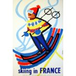 Sport Poster Skiing in France Winter Sports