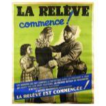 War Poster Vichy France WWII POW Volunteer Exchange