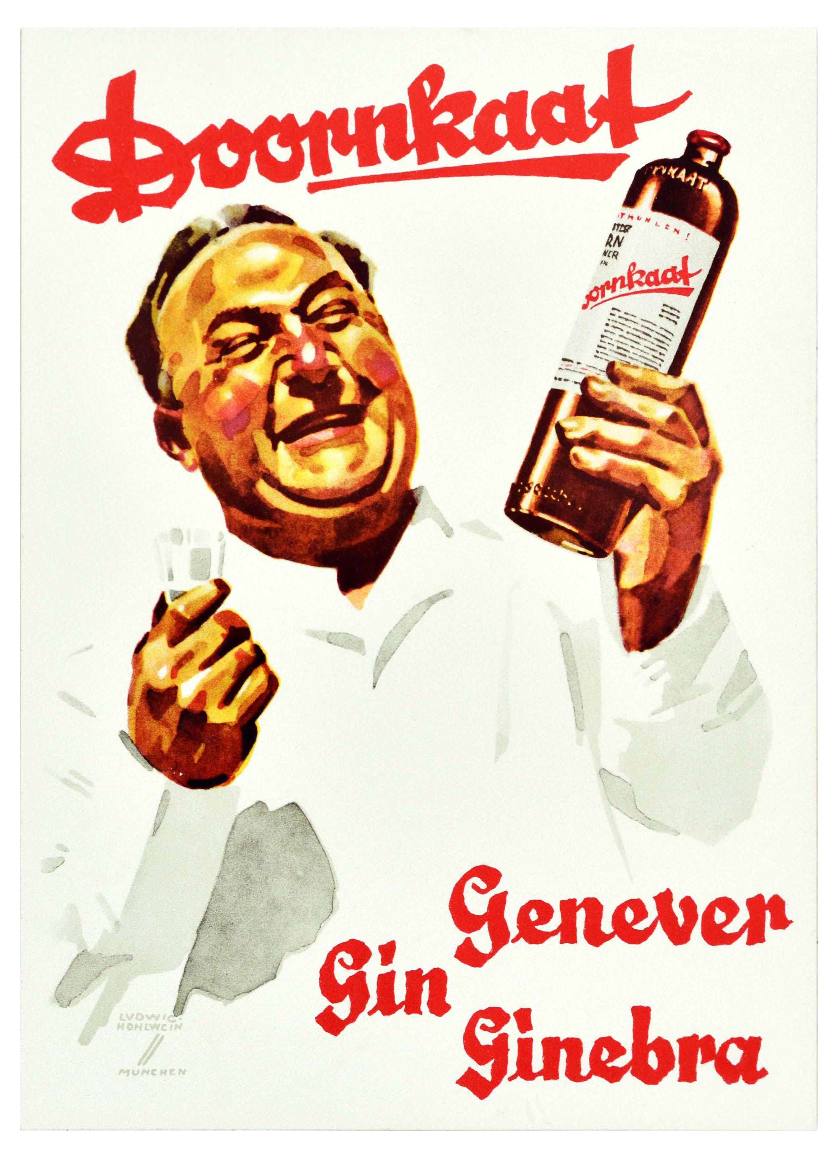 Advertising Poster Doornkaat Gin Ludwig Hohlwein