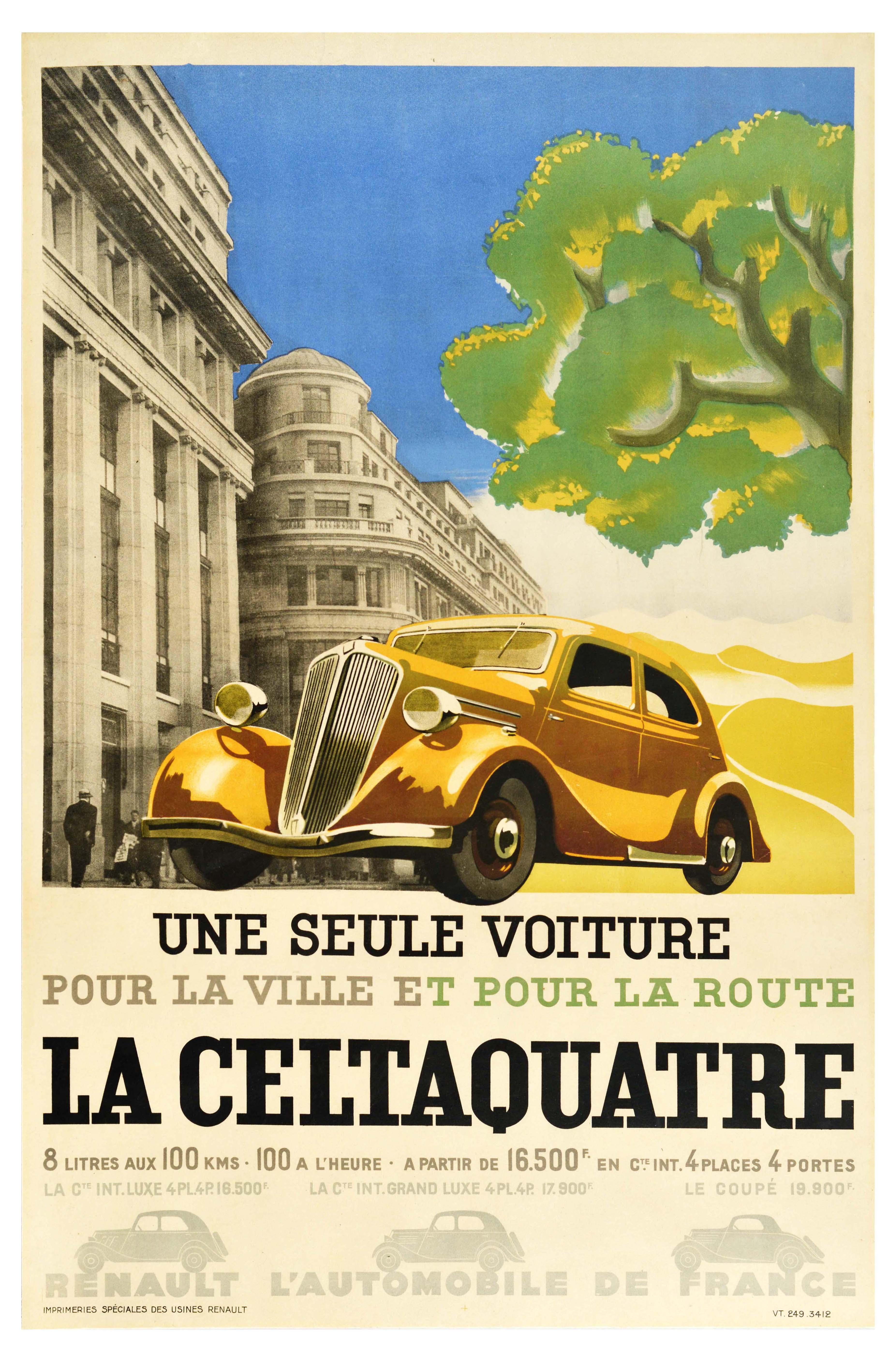 Advertising Poster Renault Universal City Road Car