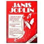 Movie Poster Janis Joplin Woodstock Singer