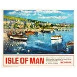 Travel Poster British Railways Isle Of Man Port St Mary