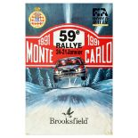 Sport Poster Monte Carlo Rallye Lancia World Championshing Car Racing