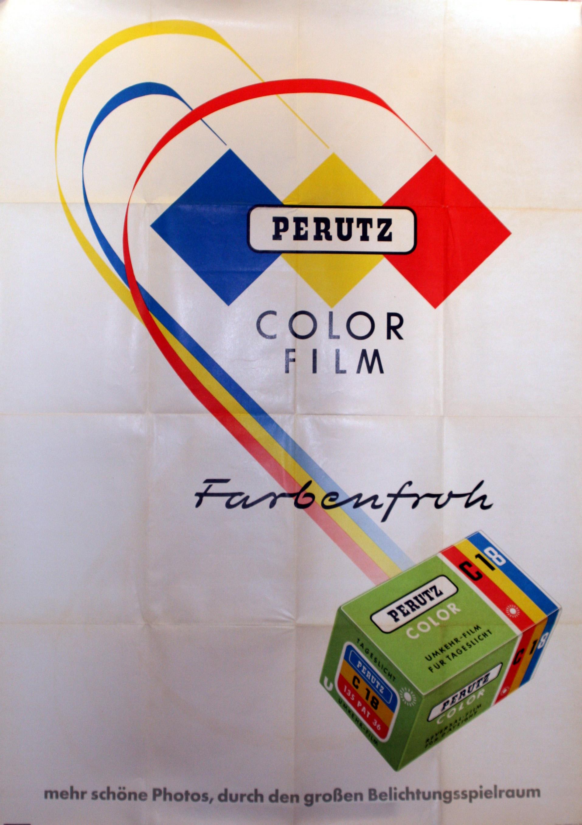 Advertising Poster Perutz Colour Film Agfa Gevaert