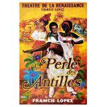 Advertising Poster Perle des Antilles Operetta Francis Lopez Okley