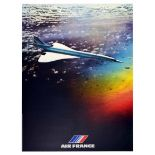 Advertising Poster Air France Concorde Airline Plane