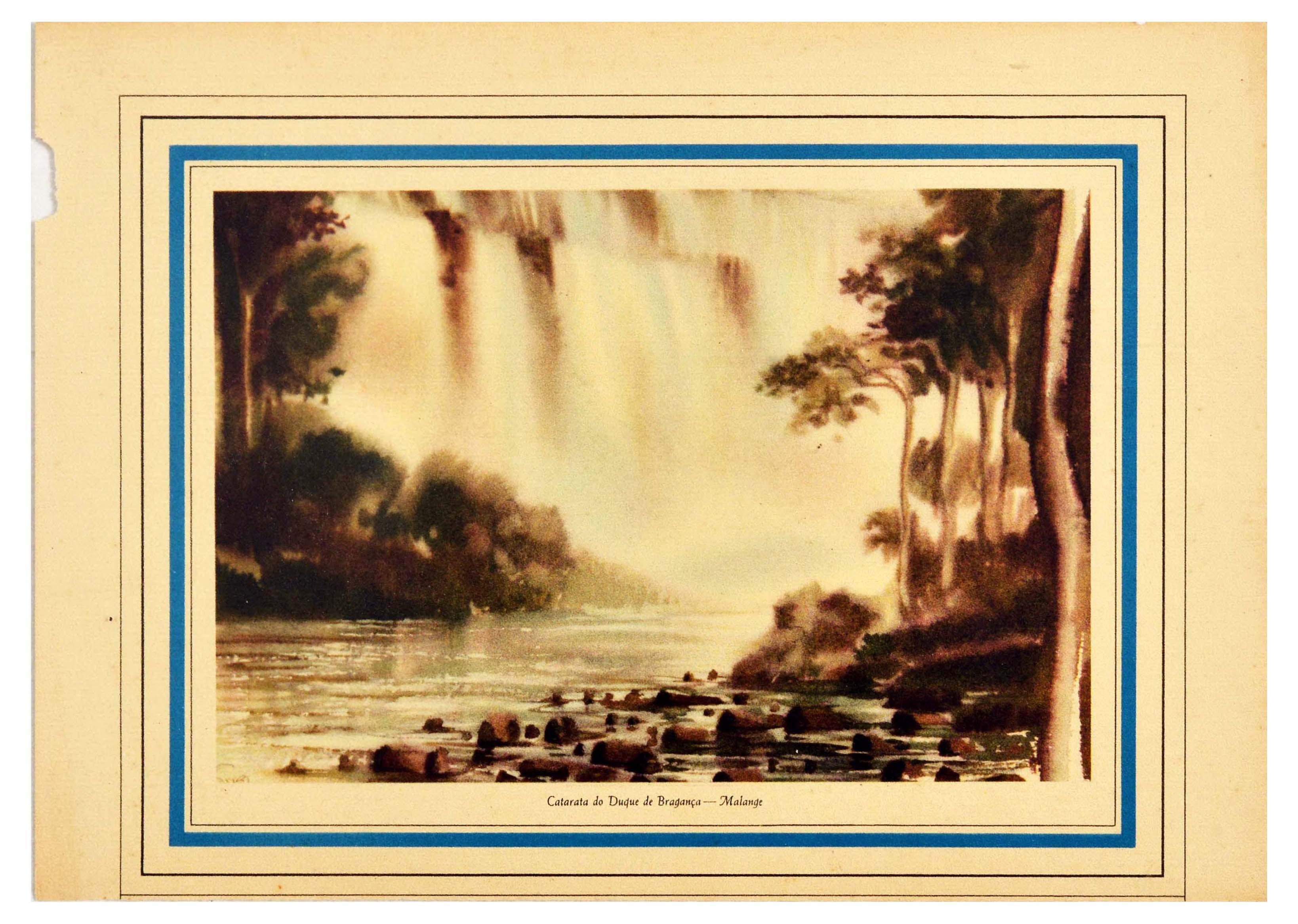 Travel Poster Calandula Falls Angola Africa Waterfall