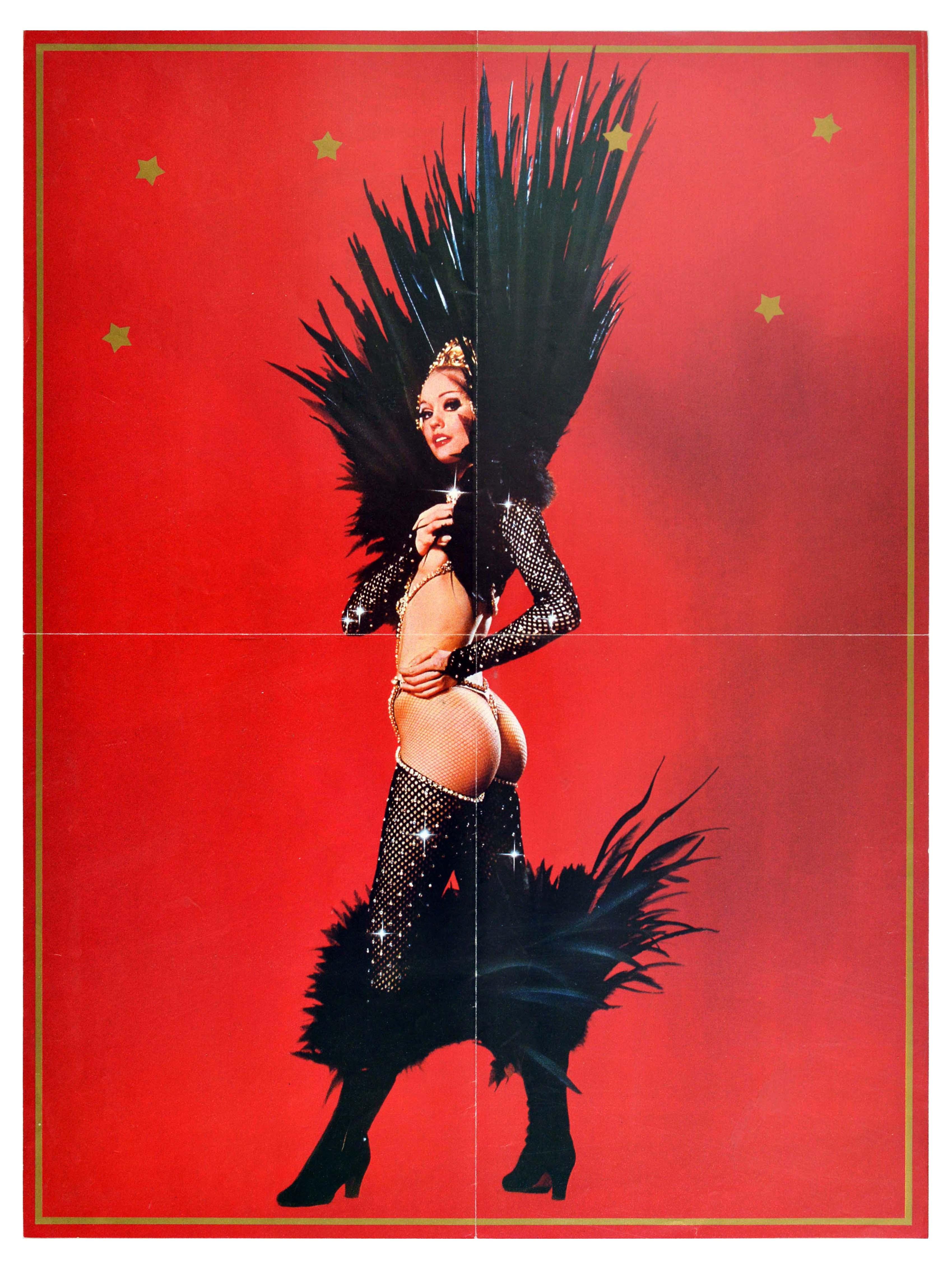 Advertising Poster Lido Cabaret Graue Champs Elysees Paris - Image 2 of 2