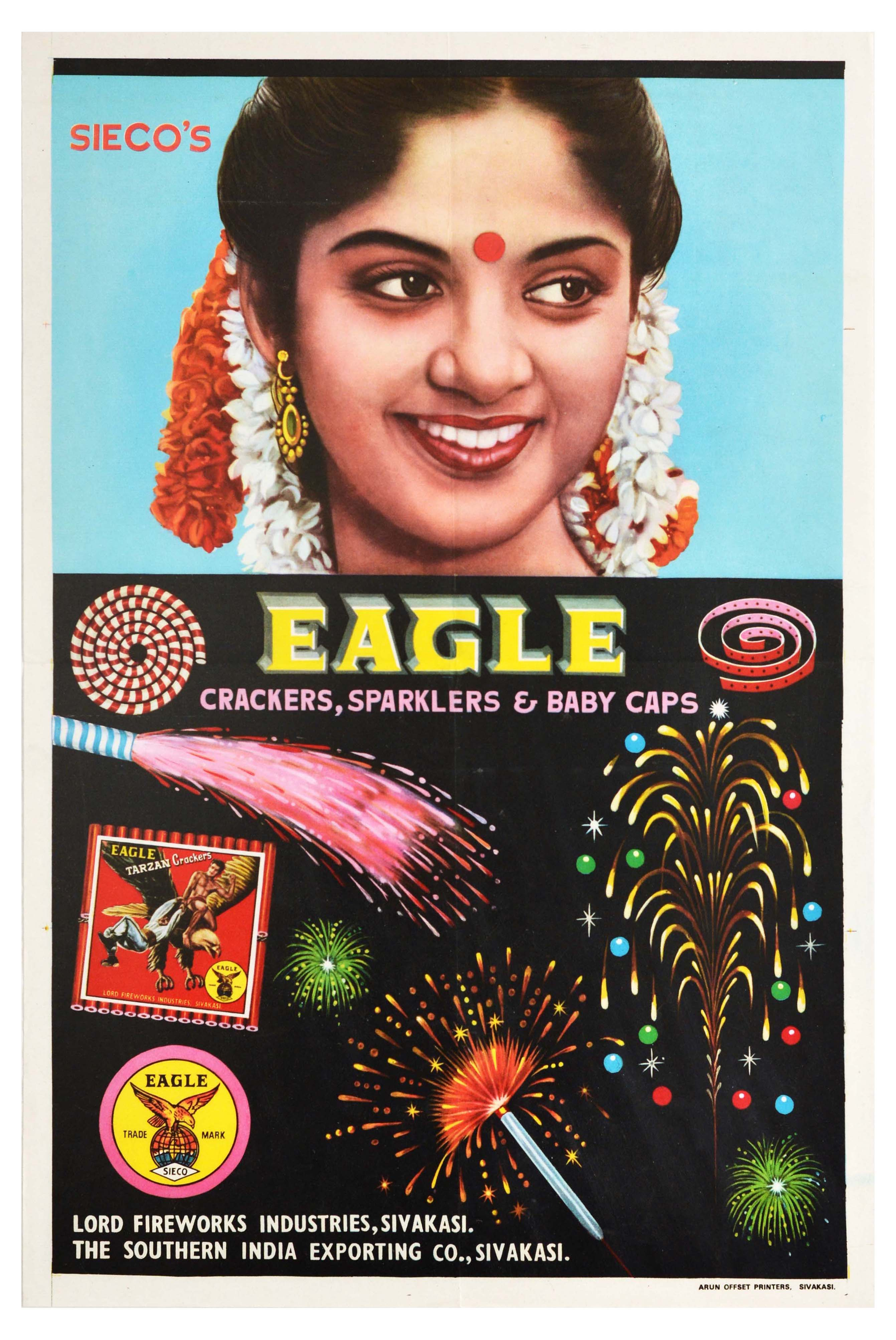 Advertising Poster Sieco Eagle Fireworks India