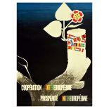 Propaganda Poster ERP Marshall Plan European Cooperation Prosperity