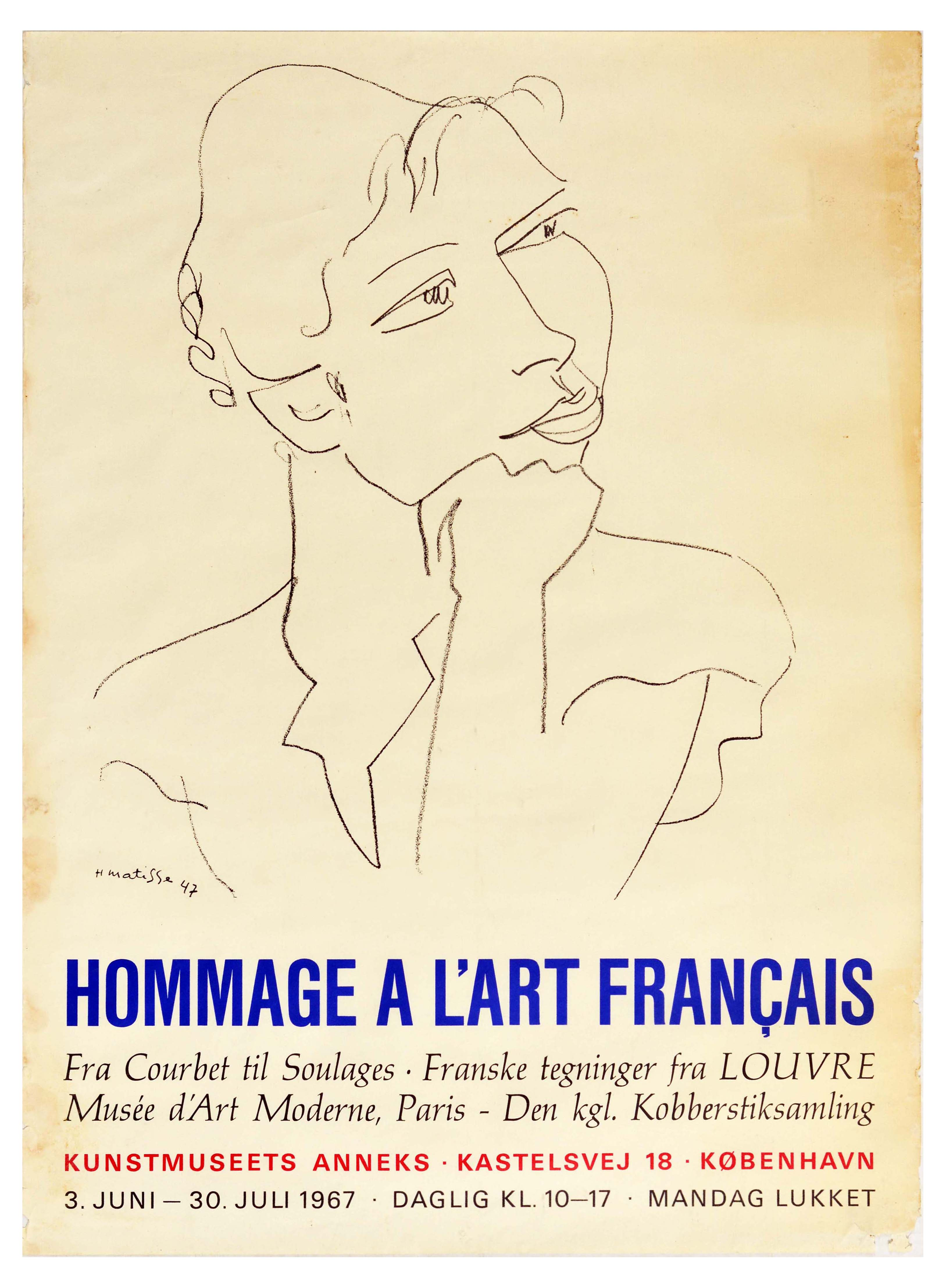 Advertising Poster Matisse French Art Hommage Courbet Soulage