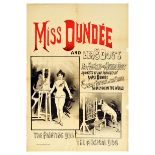 Advertising Poster Miss Dundee Circus Trained Dogs