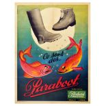 Advertising Poster Paraboot Fish Water Shoes