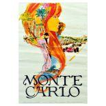 Travel Poster Monte Carlo Monaco Grand Prix Casino Formula One