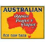 Advertising Poster Australian Apples Pears Grapes