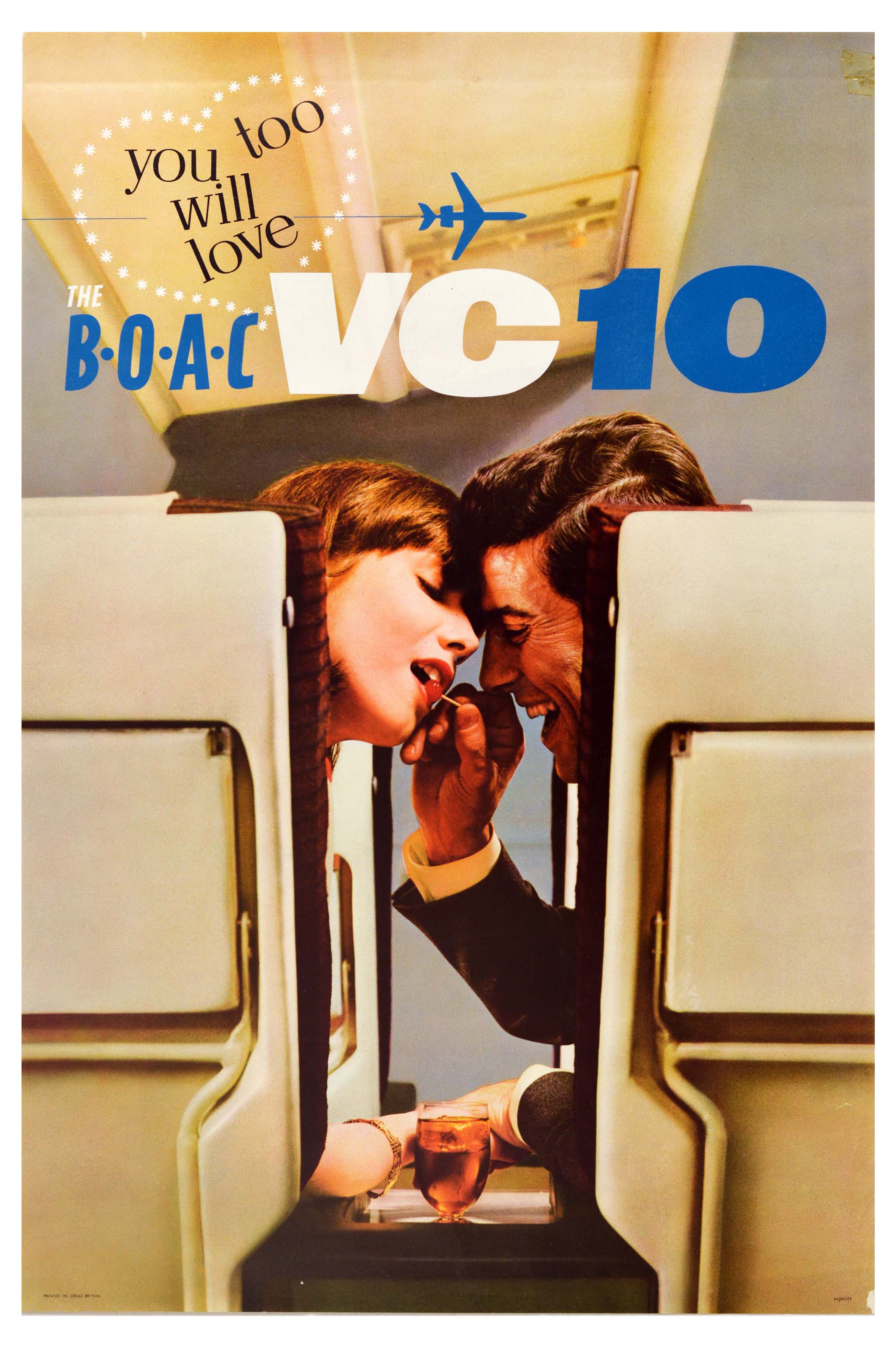 Travel Poster BOAC VC10 Love Airline
