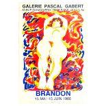 Advertising Poster Galerie Pascal Galbert Brandon Paris