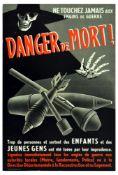 War Poster WWII Death Danger Explosives Home France