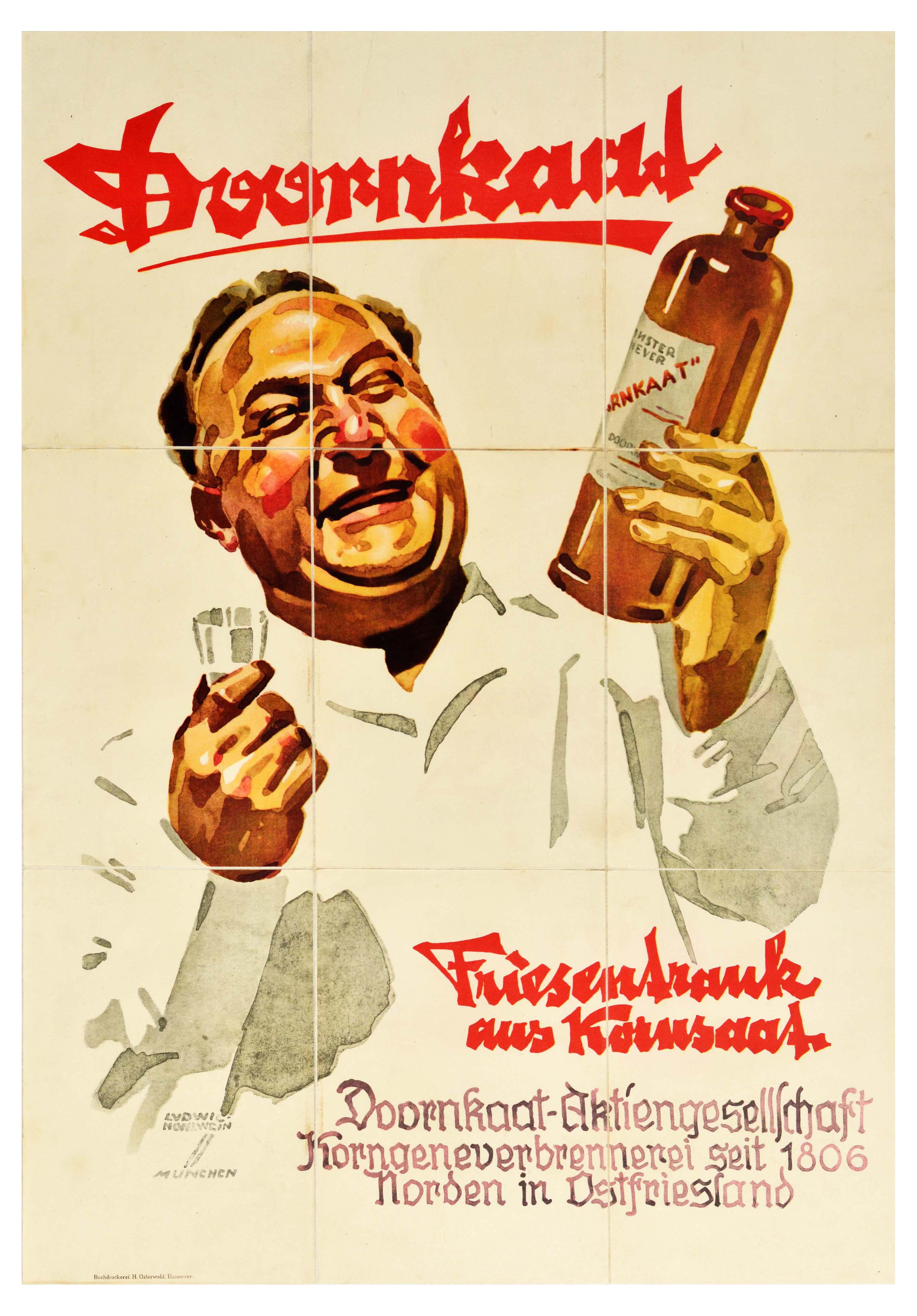 Advertising Poster Doornkaat Maize Schnapps Hohlwein