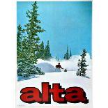 Sport Poster Alta Ski Utah USA
