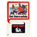 Propaganda Poster Get There Safely RoSPA Road Safety UK Scooter Motorcycle