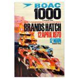 Advertising Poster BOAC Brands Hatch World Championship Sports Car Race BRSCC