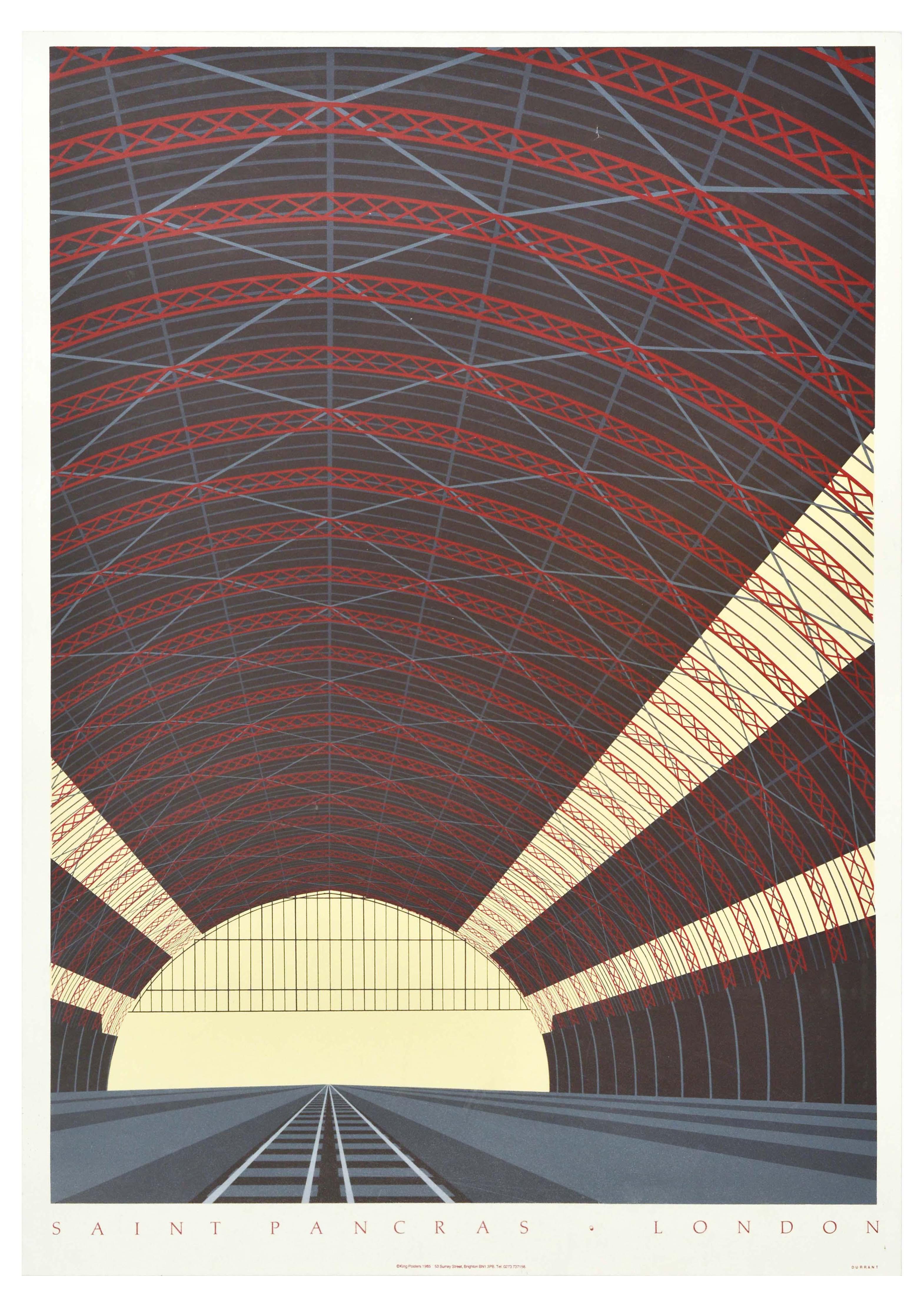 Travel Poster St Pancras London Railway Architecture