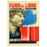 Advertising Poster Book Fair Journalism Exhibition Feria del Libro