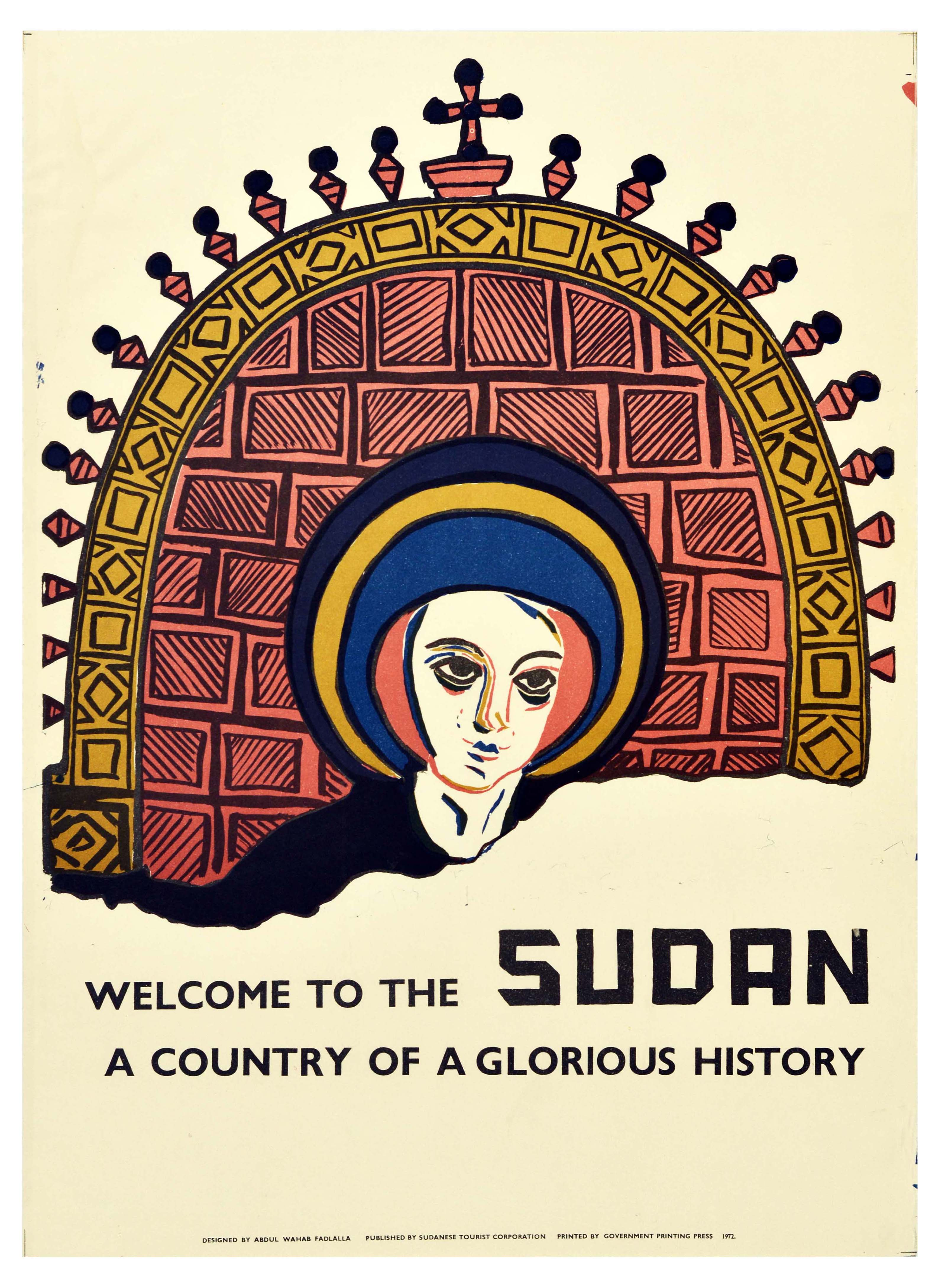 Travel Poster Sudan Africa Country of Glorious History