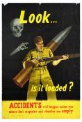 Propaganda Poster Gun Safety Accident British Army