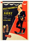 Advertising Poster Noni Clown Willy Hagenbeck Circus England Comedy