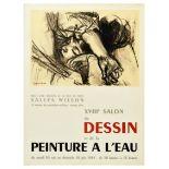 Advertising Poster Drawing Watercolor Art Exhibition Fontanarosa Paris