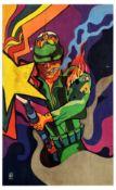 Propaganda Poster Imperial War Robot Soldier Cuba OSPAAAL Rostgaard
