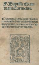 Baptista Mantuanus (d.i. J.B.Spagnioli).