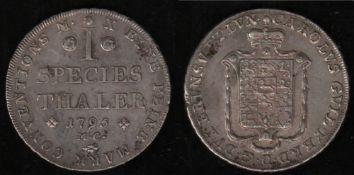 Braunschweig. Silbermünze. Speciestaler 1795. Karl Wilhelm Ferdinand, Herzog zu Braunschweig - Lüneb