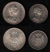Deutsches Reich. Silbermünze. 3 Mark. Wilhelm II., Deutscher Kaiser. A 1913. Vorderseite: Porträt Wi