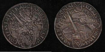 Sachsen. Silbermünze. Jubiläumstaler von 1630 zur 100-Jahrfeier der Augsburger Konfession. 1/4 Taler