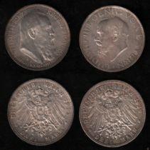 Deutsches Reich. Silbermünze. 3 Mark. Luitpold von Bayern. Zum 90. Geburtstag und 25jährigen Regents