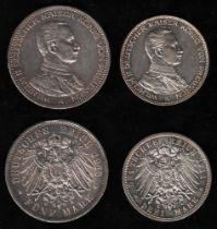 Deutsches Reich. Silbermünze. 5 Mark. Wilhelm II., Deutscher Kaiser. 25 jähriges Regierungsjubiläum.