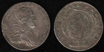 Sachsen. Silbermünze. 1 Taler 1795. Friedrich August I., Kurfürstentum Sachsen . Vorderseite Umschri