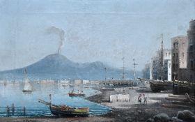 Pratella - Hafen von Neapel mit Vesuv