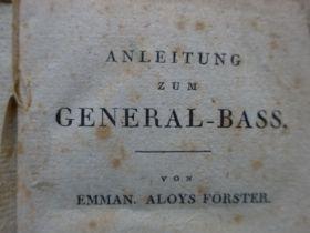 Musik - 3 Werke Generalbaß