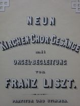 Liszt - Kirchen-Chor-Gesänge