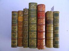 Ledereinbände mit 7 engl. Werken