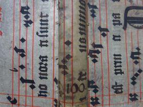 Goulart - Einband Notenhandschrift